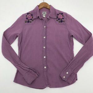 Lucky Brand Westernwear Embroidered Button Up